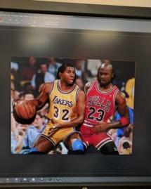 Magic And Jordan Photo Extrusion